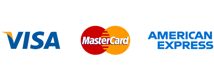 We accept VISA, MASTERCARD and MAESTRO cards.